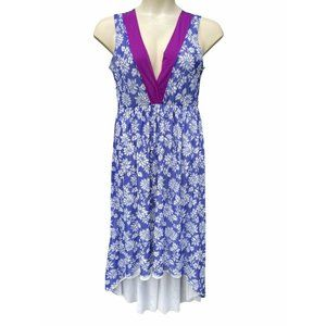 Sweet Pea Stacy Frati Blue Floral Mesh Maxi Dress
